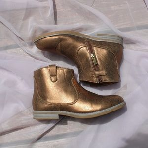 NWOB Bronze Booties